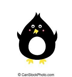 reizend, schwarz, pinguin