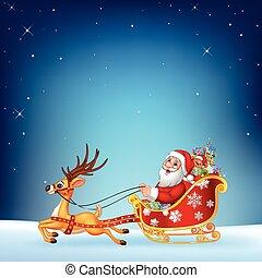 reizend, seine, weihnachten, santa klausel