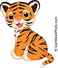 reizend, tiger, karikatur