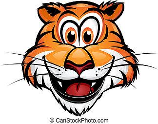 reizend, tiger, maskottchen
