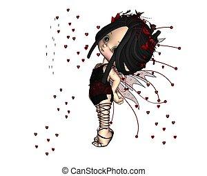 reizend, toon, -, valentine, 2, fee