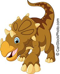 reizend, triceratops, karikatur