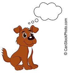 reizend, %u200b%u200bwith, hund, gedanke, bub, junger hund