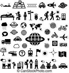 reiziger, ontdekkingsreiziger, pictogram