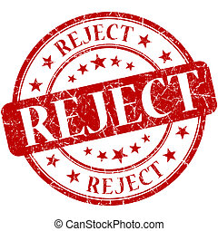 Reject grunge red round stamp