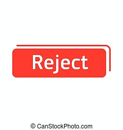 Reject icon in simple style