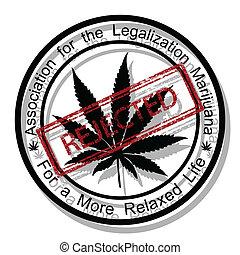 Reject marijuana - Illustration rejected the legalization of...