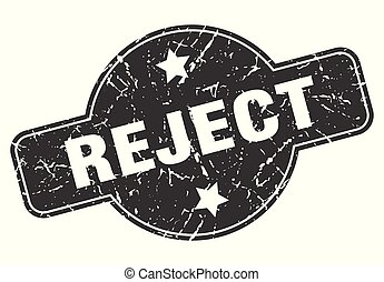 reject round grunge isolated stamp