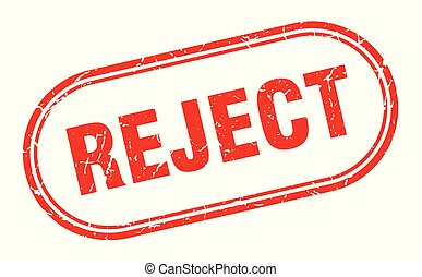 reject stamp. reject square grunge sign. reject