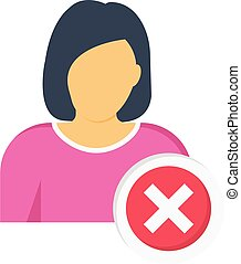 reject vector colour flat icon