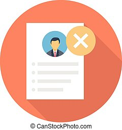 reject vector flat colour icon