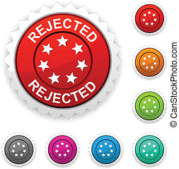 Rejected award button.