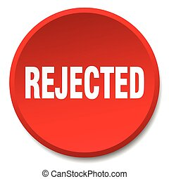 rejected red round flat isolated push button