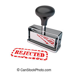 Rejected Rubber Stamp - High detail rejected stamp over...