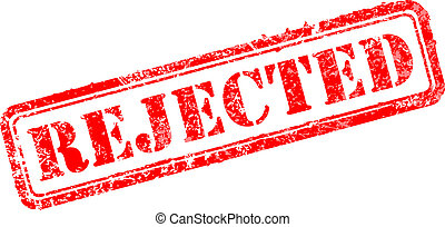 Rejected rubber stamp vector illustration. Contains original...