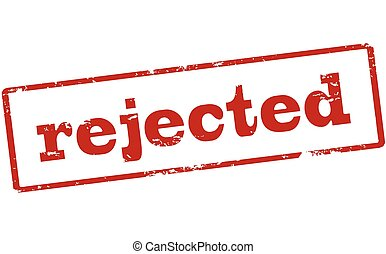 Rejected - Rubber stamp with word rejected inside, vector...