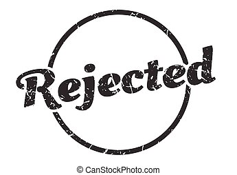 rejected sign. rejected round vintage grunge stamp. rejected