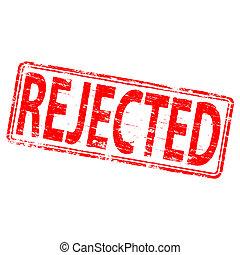 Rejected Stamp - Rubber stamp illustration showing...