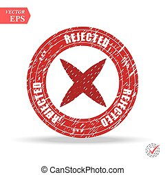 rejected. stamp. red round grunge vintage rejected sign