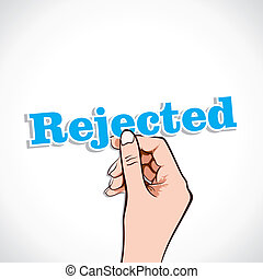 Rejected word in hand