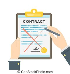 Rejecting the contract.