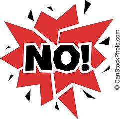rejet, non, checkmark, forbidden., isolé, vecteur, white., symbole, disapproved, bouton, rouges