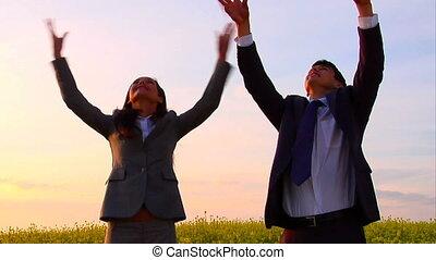 Rejoicing colleauges