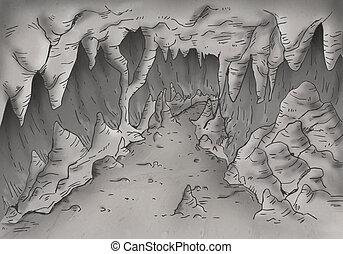 rejtély, barlang