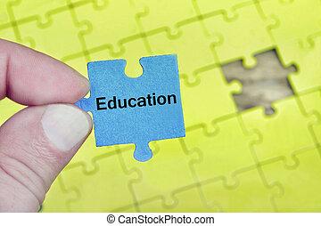 rejtvény, noha, szó, oktatás