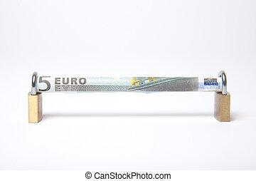 rekening, bevestigen, eurobiljet