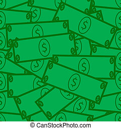 rekening, dollar, seamless, achtergrond