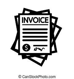 rekening, factuur, pictogram