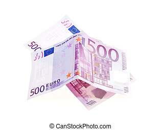 rekening, honderd, eurobiljet, vijf