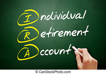 rekening, pensioen, acroniem, -, individu, ira