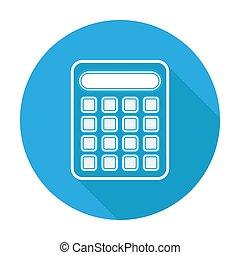 rekenmachine, icon., plat, ontwerp, vector, illustration.