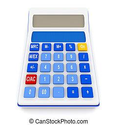 rekenmachine, isoleren, op wit