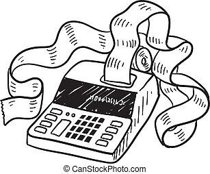 rekenmachine, schets