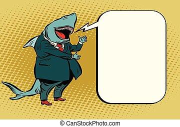 rekin, bańka, komik, handlowy
