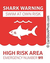 rekin, powierzchnia, ostrzeżenie
