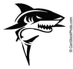 rekin, wektor, ilustracja