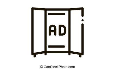 reklama, broszura, ożywienie, ikona