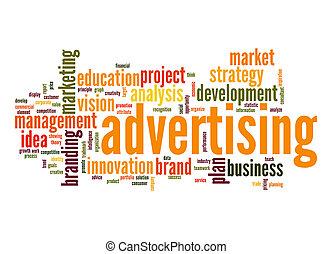 reklama, chmura, słowo