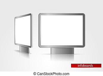 reklama, deski
