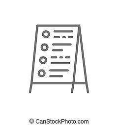 reklama, kreska, icon., ceny, deska, ulica
