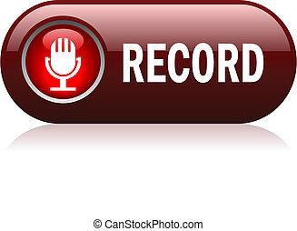rekord, guzik, wektor