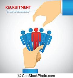 rekrytering, resurs, mänsklig