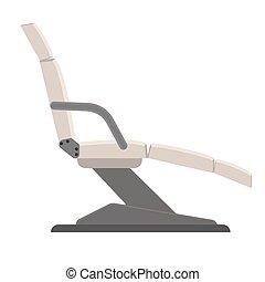 relâcher, fauteuil, isolé, illustration, vecteur, thérapie, backgroung., chaise, blanc, masage, icône