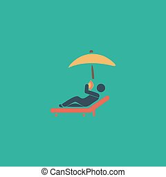 pictogramme chaise longue vacances sous parasol vecteurs search clip art. Black Bedroom Furniture Sets. Home Design Ideas