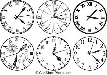 relógio, ícones