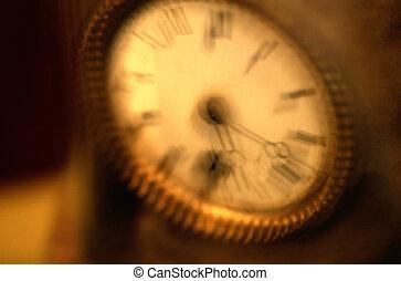relógio, blurry